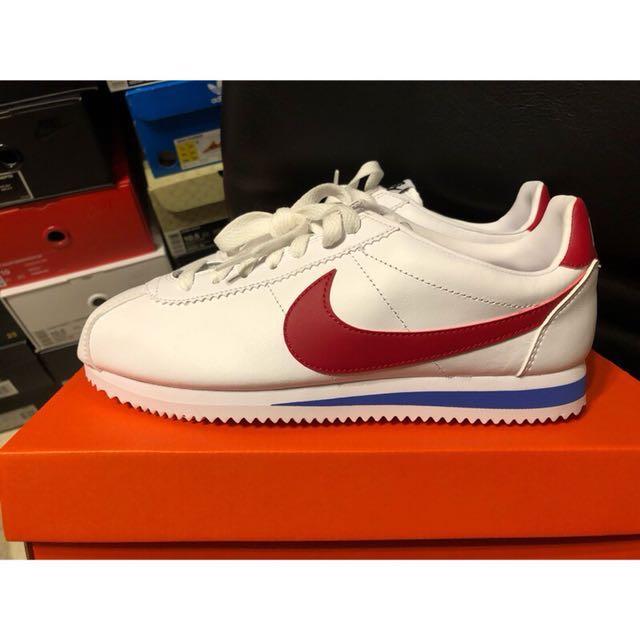 Nike classic Cortez leather 紅白藍 皮革 阿甘鞋