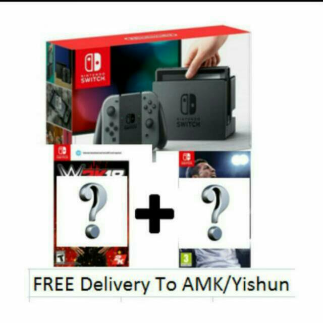 Nintendo Switch Set (Gray)(Any 2 Games)(Japan Set)