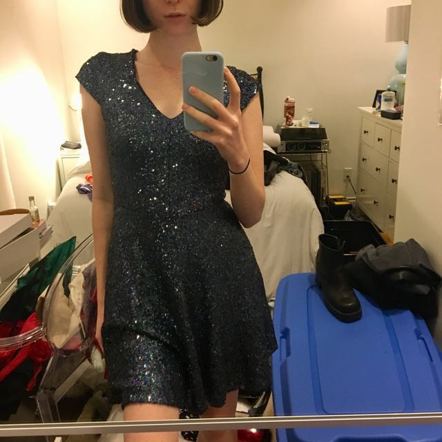 NWT Bedo Sequin Dress