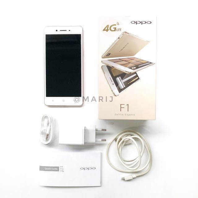 OPPO F1 F1f 3GB/16GB - Rose Gold (Box Full Set)