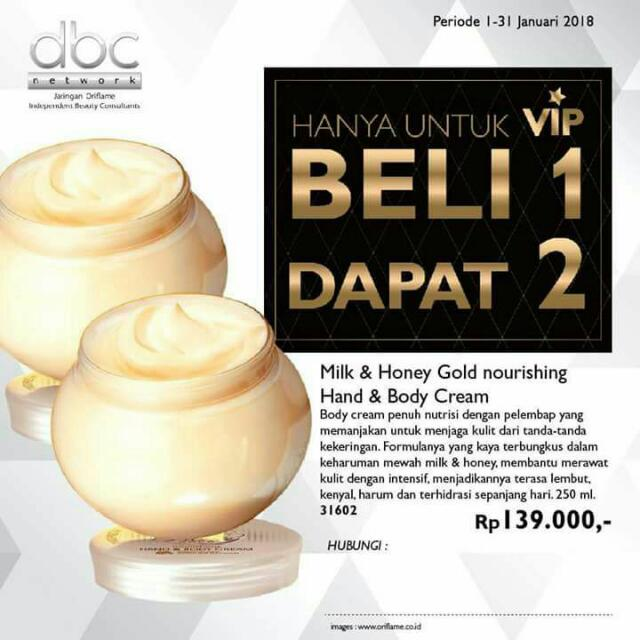 Oriflame Body Cream Beli 1 Gratis 1