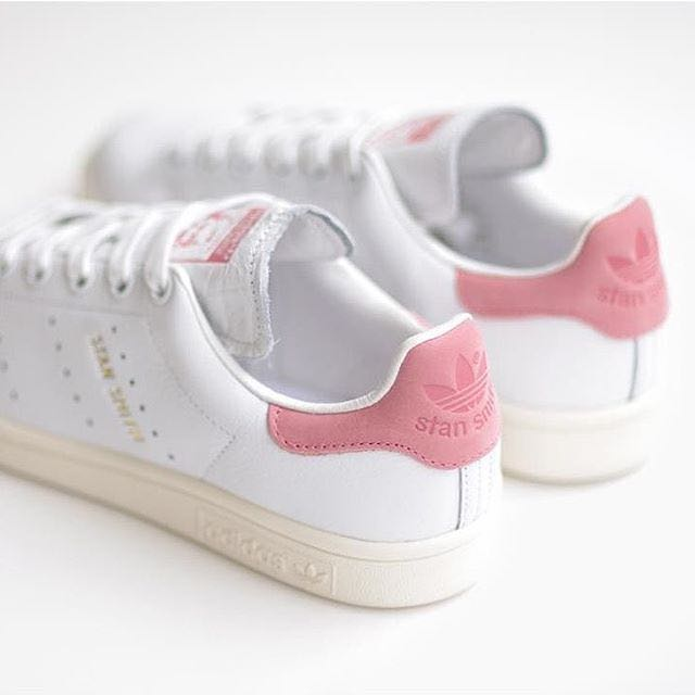 Original di Adidas Stan Fesyen Smith Lyserød, Fesyen Stan Wanita, Kasut di 3db275