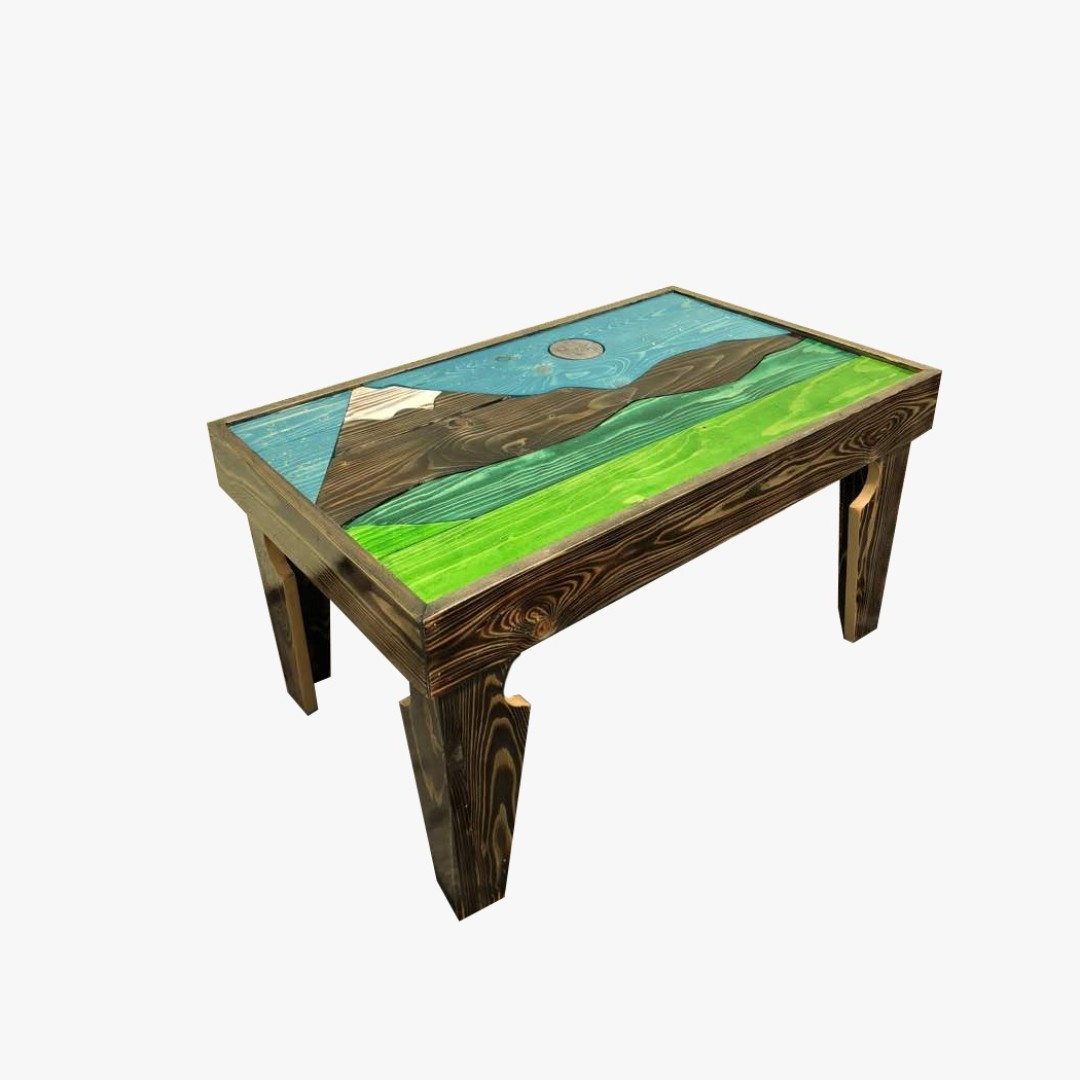 Pine Wood Coffee Table Mount Fuji Ft X Ft X Ft Home - 3ft coffee table