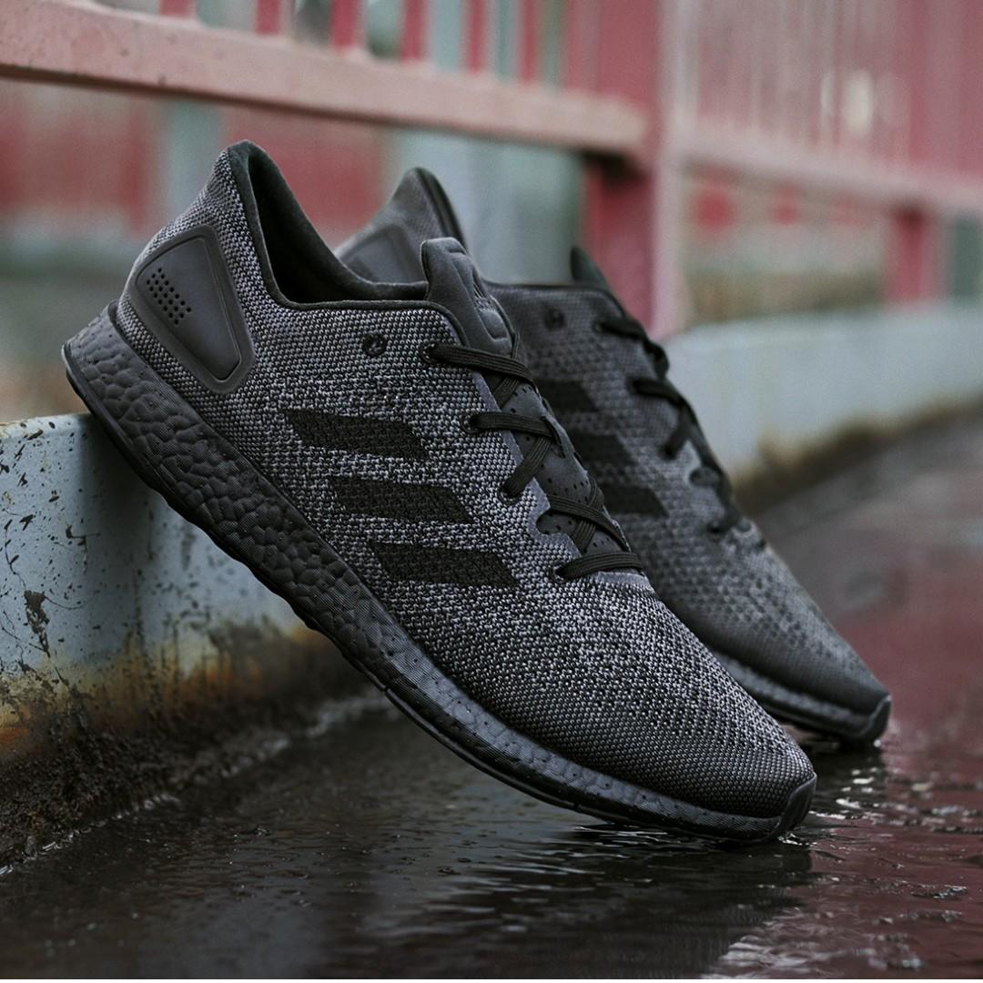 8171e9e62ef38 PO) Adidas Mens Pure Boost DPR Triple Black