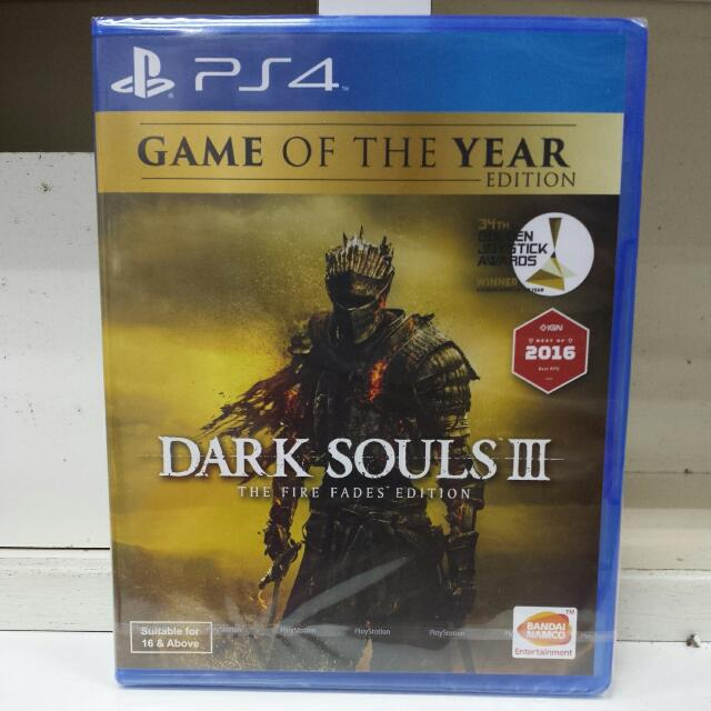 PS4 Dark Souls III The Fire Fades Edition Game Of The Year Edition R3 English