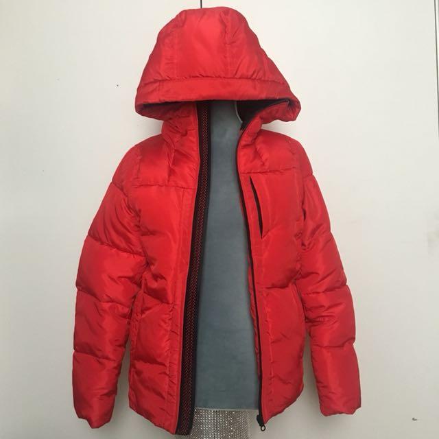 Red Puffer Jacket Size 14 Kids/Women's M