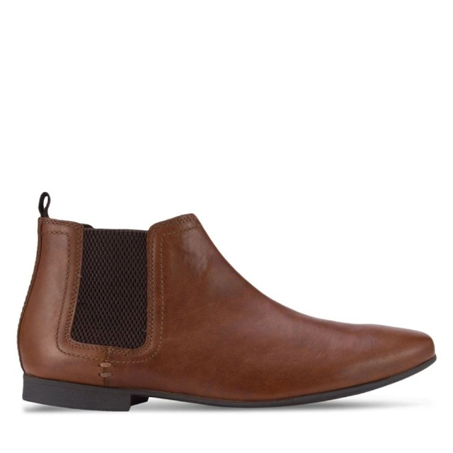 River Island brown chelsea leather boots