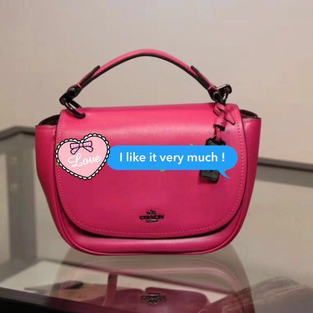 40251e23d0 🎀SALE! 💯% Authentic Coach Pink Lady Crossbody Sling Bag (Ready ...