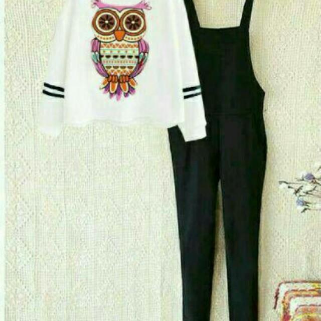 Set kodok owl ethnic baju setelan