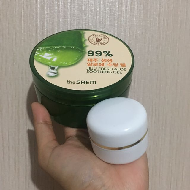 [share in jar] the saem jeju fresh aloe soothing gel