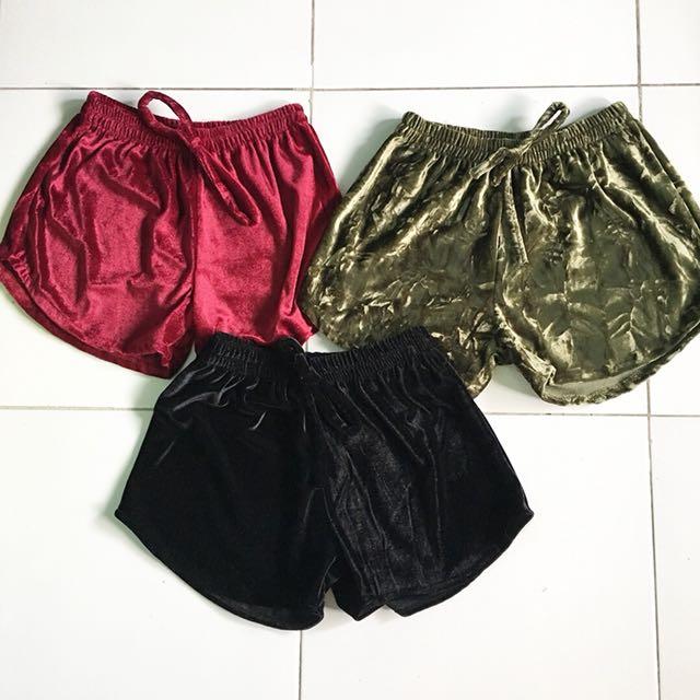 Shiny shorts