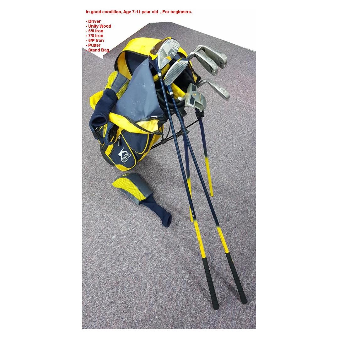 270df21dec3 Slazenger junior golf club set & stand bag - everything your child ...