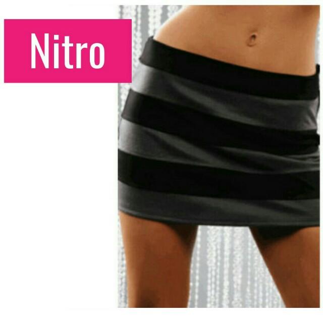 Striped Tight Mini Skirt