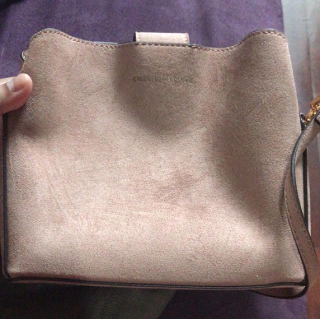 Tassel Sling Bag Nude by Charles and Keith