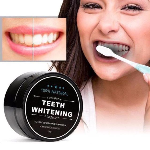Teeth Whitening Activated Organic Charcoal Bubuk Pemutih Gigi Alami