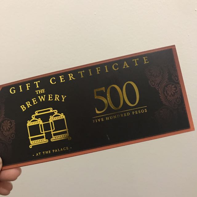 The Brewery Gift Certificate