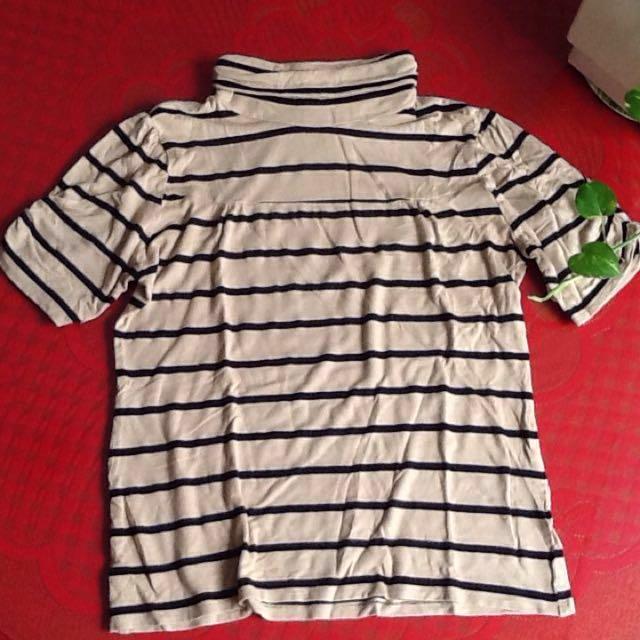 The Executive Turtle Neck Stripe Shirt