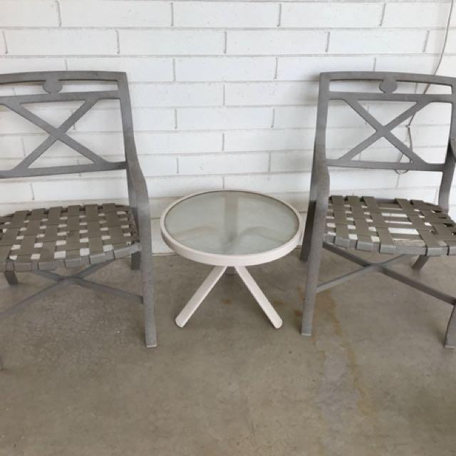 Three piece patio set