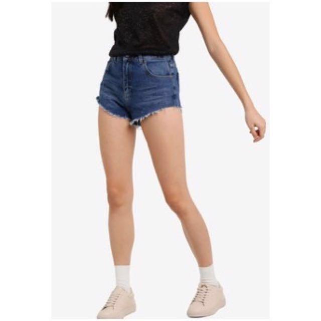 Topshop Moto High Waisted Denim Shorts #midjan55