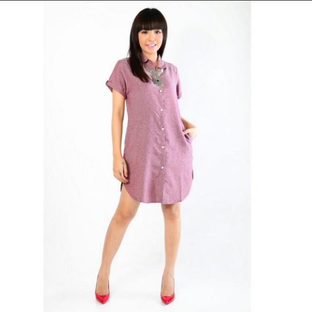 Tunik basic tangan pendek dress