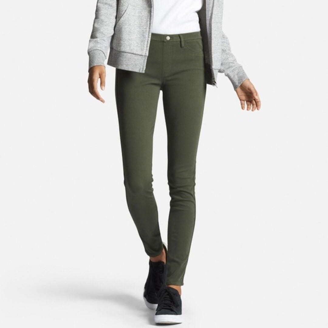 Uniqlo Army green/Olive Green Jegging #MidJan55