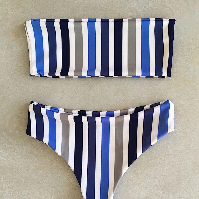 Vincija Swimwear Retro Stripe Bikini