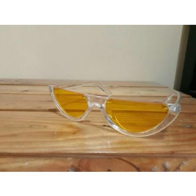 Watermelon yellow half glasses kacamata