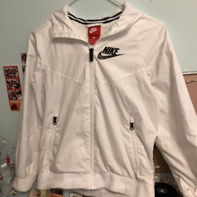 white nike windbreaker