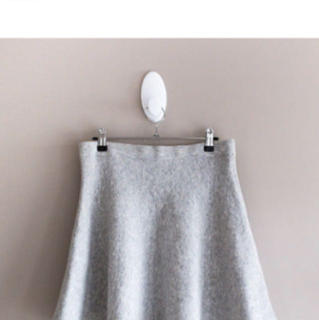 Whitery Grey Knit Mini Skirt