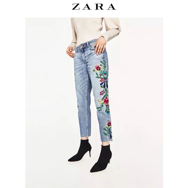 ZARA Embroidered Pants