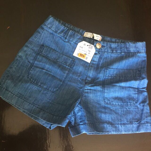 Zara girls denim shorts