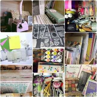 Mega scrapbook clearance! Dies, Zutter binder, Cardstocks, Designer papers, Embossing plates, Punches, Embellishments, Ink pads & brushes etc.!