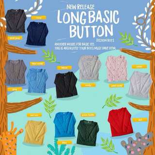 Long Basic Button Tee