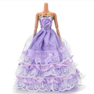 Barbie Doll Purple Dinner Gown Dress
