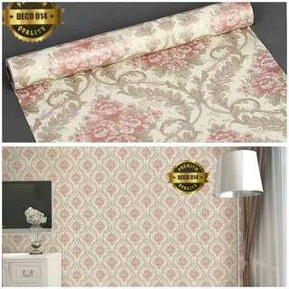Wallpaper sticker batik bunga jalar 014