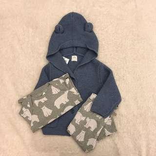 卡哇伊👶🏼Baby Gap北極熊套裝三件組