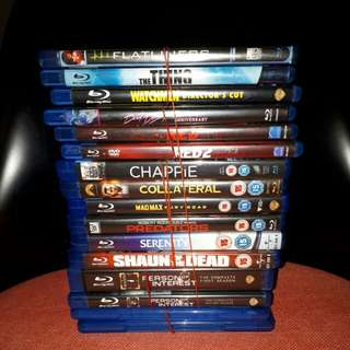 <SOLD> $60 for 12 Blu ray Movies & 2 TV Series