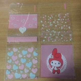 Self Adhesive Plastic Bags - 7cm X 7cm + 3cm