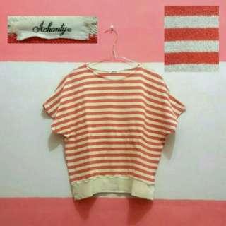 Sweater crop stripe