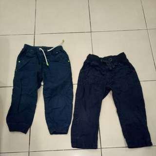 Set of 2 Mothercare Poplin Long Pants