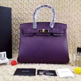Bag of parody 暗紫30cm 惡搞鉑金包