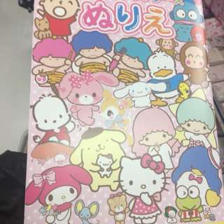 Pekkle Sanrio卡通人物填色畫冊