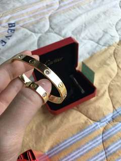 Cartier Ring and Bracelet with screw