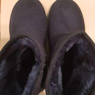 Ollie 全新韓國短靴 雪靴 短boot 深藍