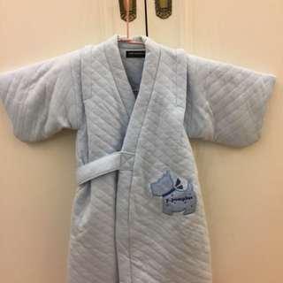 ⭐️全新⭐️法國Pom pomplus小童鋪棉睡袍和服式有腰帶中性款男寶女寶