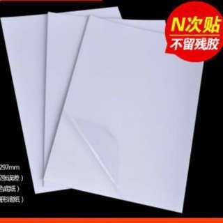 High Transparency Transparent A4 Sticker Paper (Transparent)