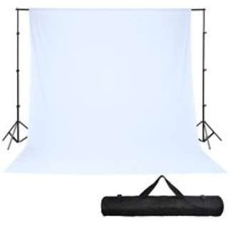 Rent Portable backdrop stand with WHITE muslin cloth rental only