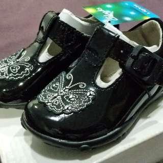 Black Formal Baby Girl Shoes w/ Lights