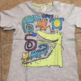 T-Shirt H&M size 1,5-2tahun