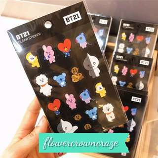 BT21 stickers limited stock